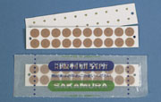 Magrain Gold Ion Pellets on Clear Tape