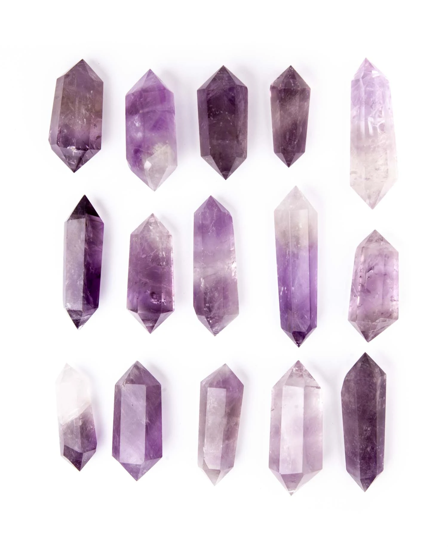 Amethyst Double Terminated Point Gemstone