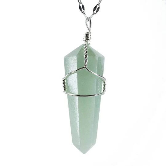Aventurine Point Healing Pendant