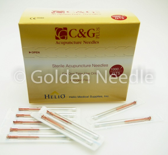 .22x40mm (34g x 1.5'') C&G Bulk 5 Acupuncture Needles