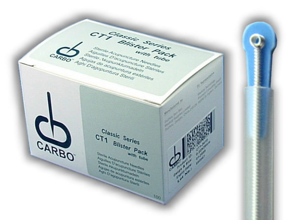 .25 x 40mm - Carbo Singles Acupuncture Needles