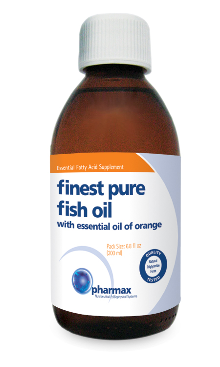Finest Pure Fish Oil (Natural Orange Flavor), 200ml (expires 9/20)