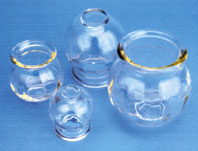 Glass Fire Cup #4 - Large, 2.5'' (with Finger Grips)