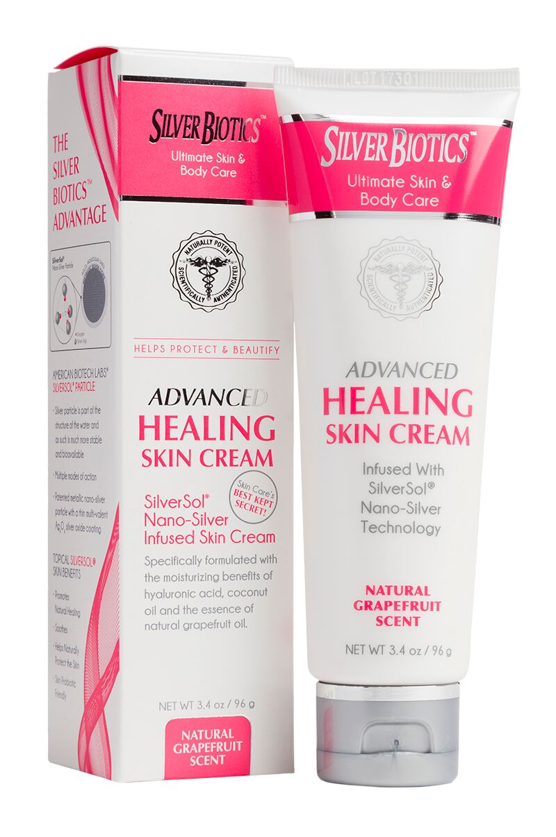 Advanced Healing Silver Skin Cream - Grapefruit, Large