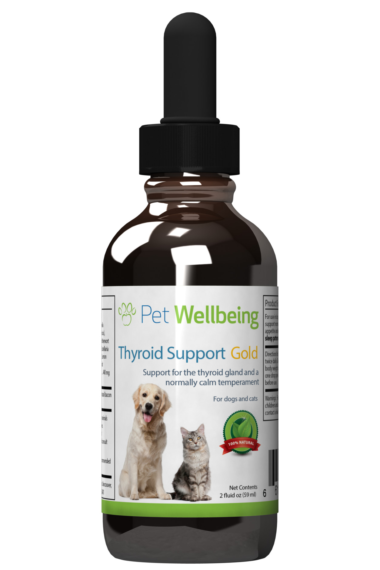 Thyroid Support Gold, 2oz, for Dogs & Cats