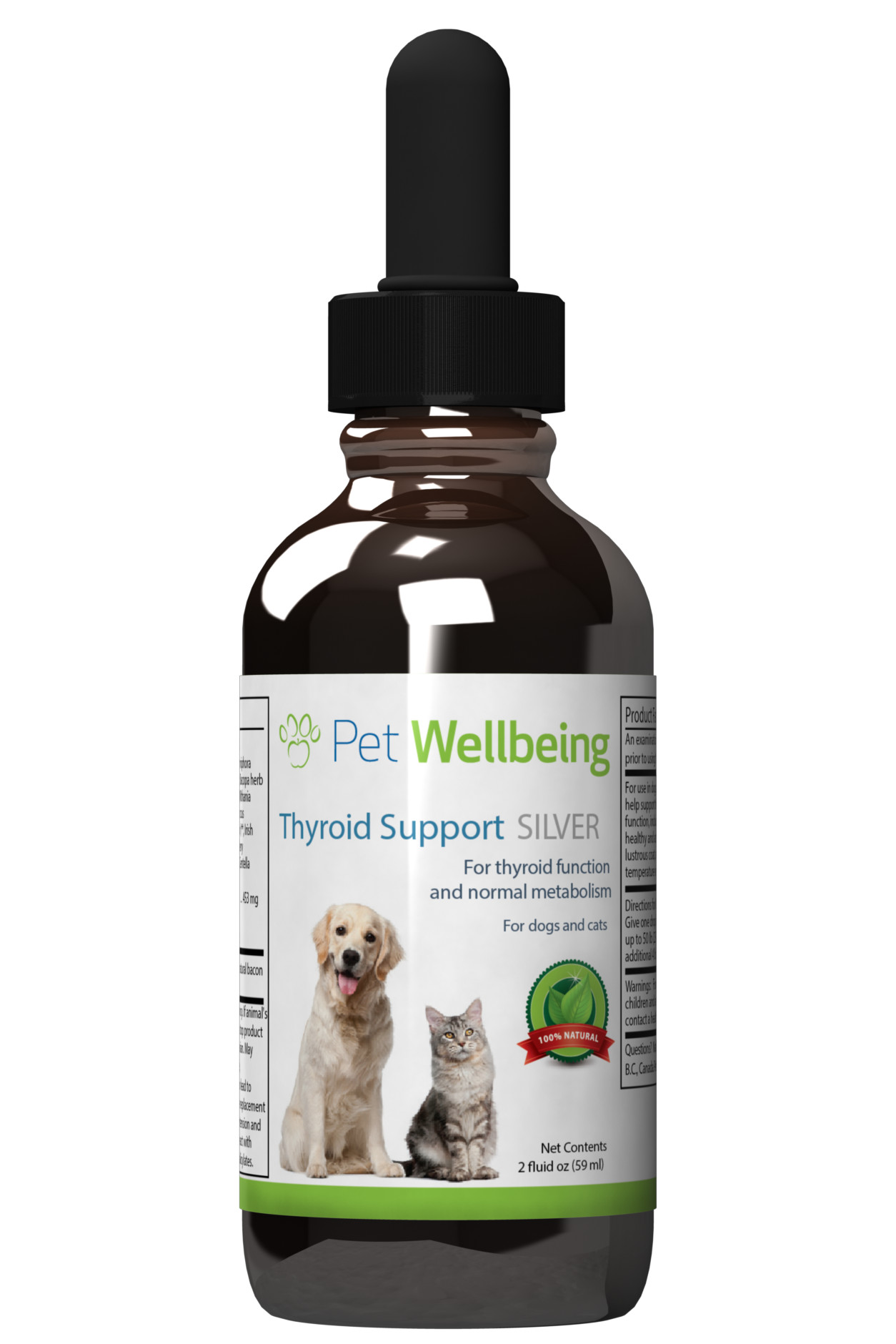 Thyroid Support Silver, 2oz, for Dogs & Cats