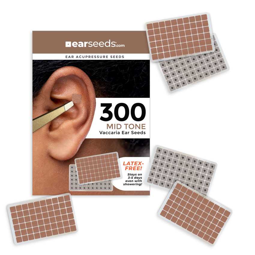 Vaccaria Ear Seeds, Mid-Tone Adhesive