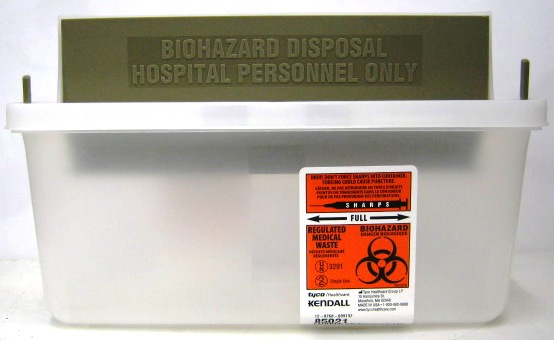 Sage Bio-Hazard Container, 2 quart clear