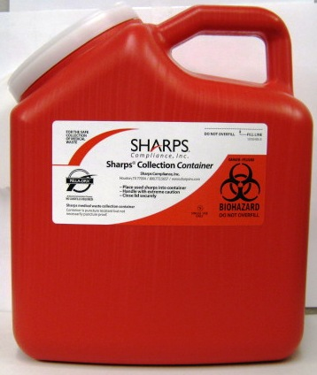 Sharps by Mail Container, 2 gallon