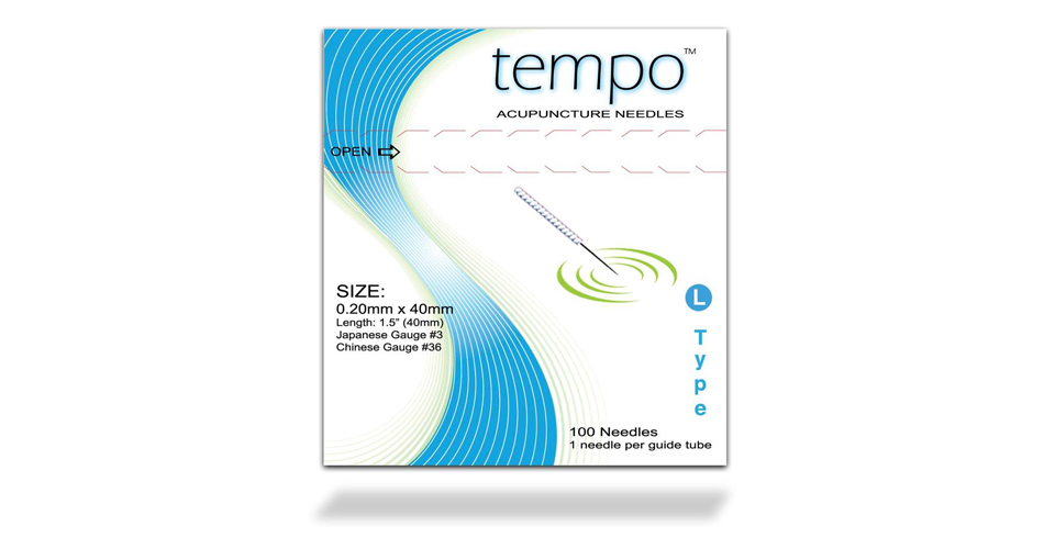 .18x40mm - Tempo L-Type Acupuncture Needle