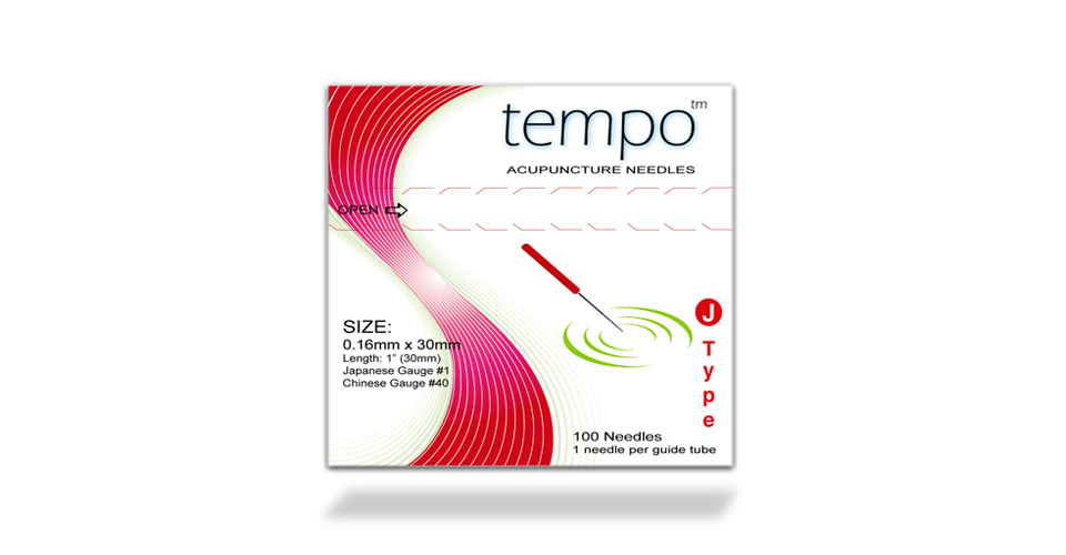 .14x30mm (Lime Green) Tempo J-Type Acupuncture Needle