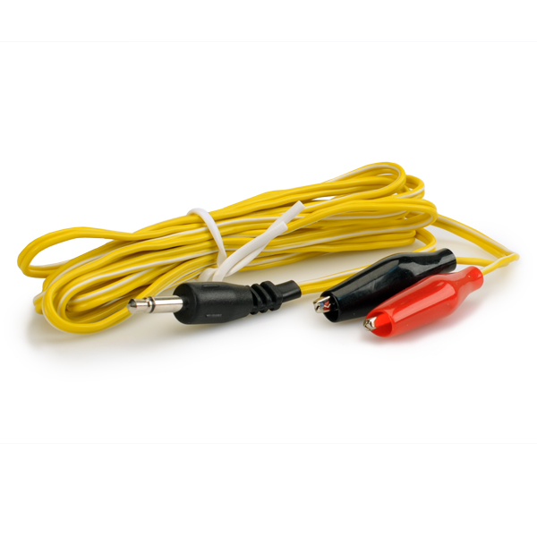 Alligator Clip Wires, 3.5mm - Yellow