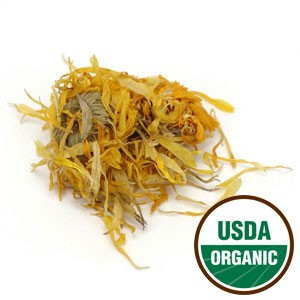 Calendula Flowers, Whole (Certified Organic & Kosher)