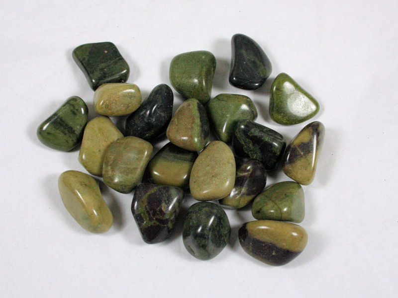 Green Jasper, Tumbled, A. Large