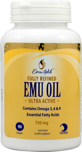 Emu Oil Softgels, 750mg  (Expires 2/20)