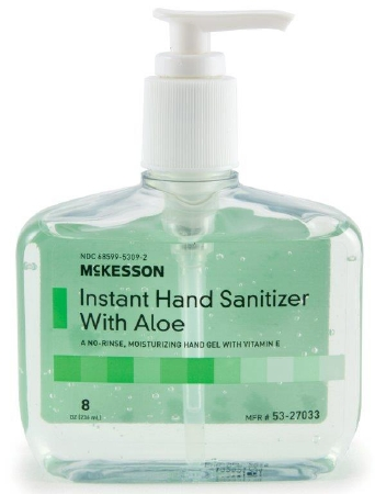 Hand Sanitizer with Aloe, 8 oz Pump