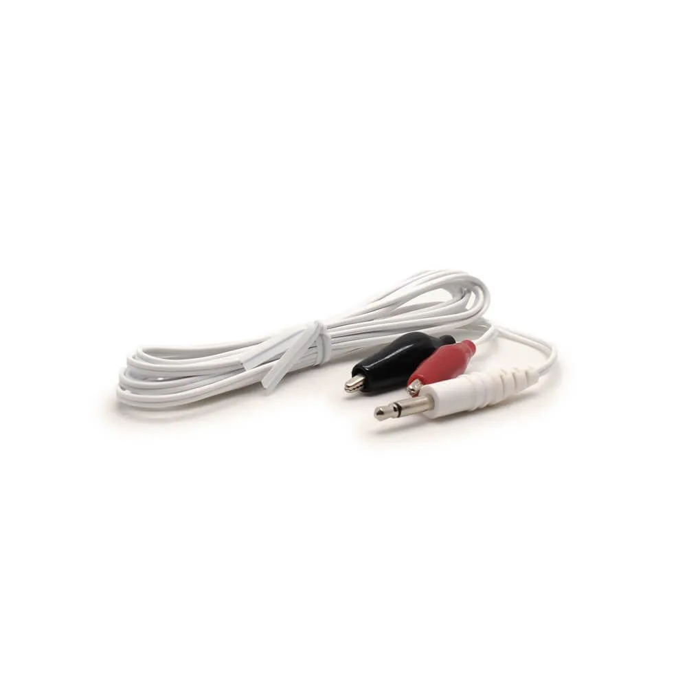 Alligator Clip Wires (high quality), 3.5MM - White