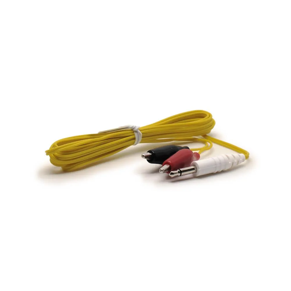 Alligator Clip Wires (high quality), 3.5MM - Yellow