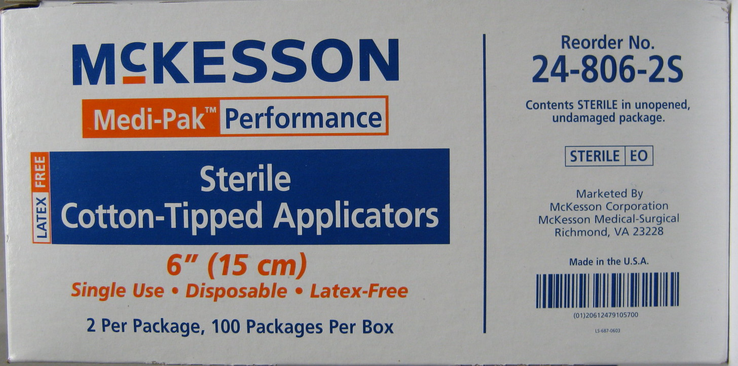 Cotton-Tipped Applicators, Sterile