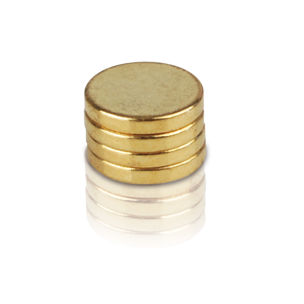 Mini-Slim Gold Plated 2,500 Gauss REC Magnets