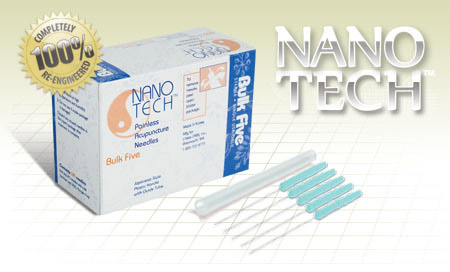 .25x30mm - Nano Tech Bulk Five Acupuncture Needle