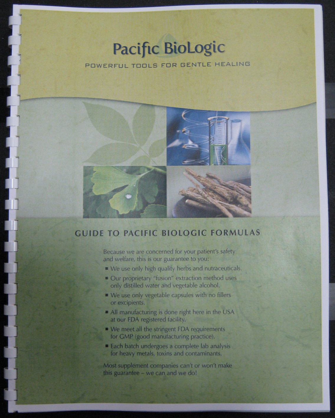 Guide to Pacific Biologic Formulas