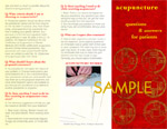 Questions & Answers about Acupuncture Brochure