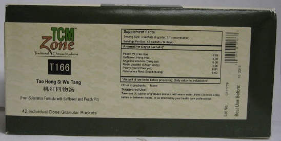 Tao Hong Si Wu Tang Granules, Box of 42 packets (2g per packet)