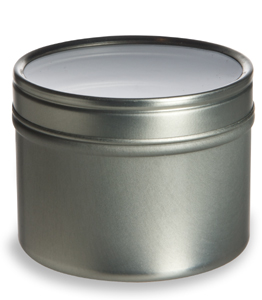 Tin Deep Container, 4oz w/ Clear Top Cover