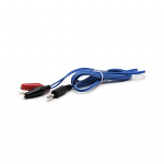 Alligator Clip Wires, 3.5mm - Blue