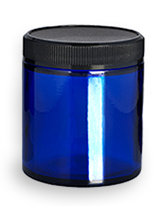 Blue Glass Jar, 4 oz.