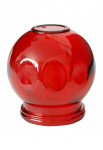 """Glass Fire Cup #5 - 2.5"""", Red"""