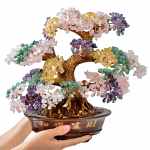 Multi-Gemstone Tree of Life on Resin & Wood Base