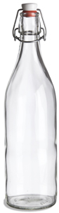 Giara Clear Glass Bottle, 34oz w/ Swingtop