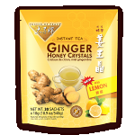 Instant Lemon Ginger Honey Crystals, 30 Bags