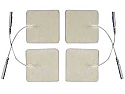 "2"" x 2"" Pro-Patch-Electrodes, White Foam, 4 pack Tyco Gel"