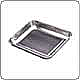 "Stainless Steel Open Tray (10.2"" x 8.0"" x 1.25"")"