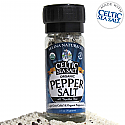 Light Grey Celtic Sea Salt & Organic Peppercorn Mix in Grinder