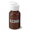 Alcohol Dispenser (Brown, Imprinted), 8 oz