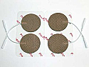 "2"" Round Electrodes, Tan Cloth, Tyco Gel"