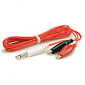 Alligator Clip Wires (high quality), 3.5MM - Red