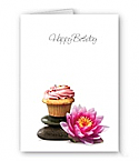Birthday Cupcake Card - 50 Count