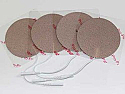 "3"" Round Electrodes, Tan Cloth, Tyco Gel"